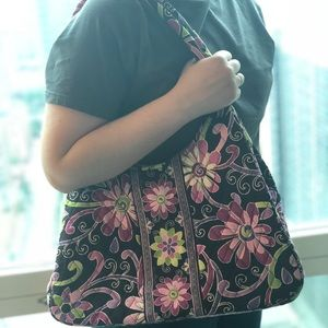 Vera Bradley Large Hobo Bag in Purple Punch